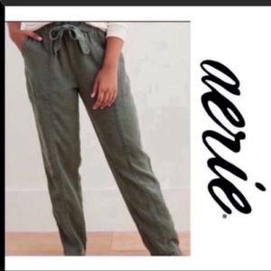 AERIE Camp Pants - Green